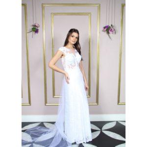 Vestido de noiva, busto com aplicação renda Soutache
