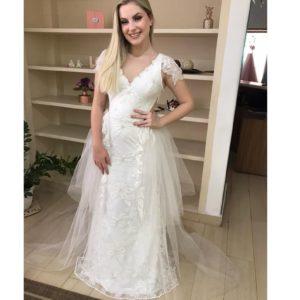 Vestido de noiva, estilo boho chic moderno