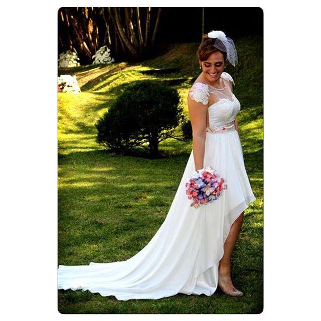 Vestido de noiva Mullet na zona leste
