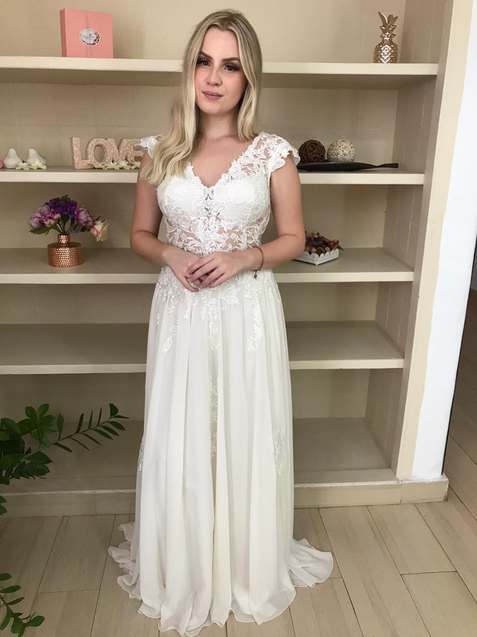 Vestido de noiva Boho Chic na zona leste
