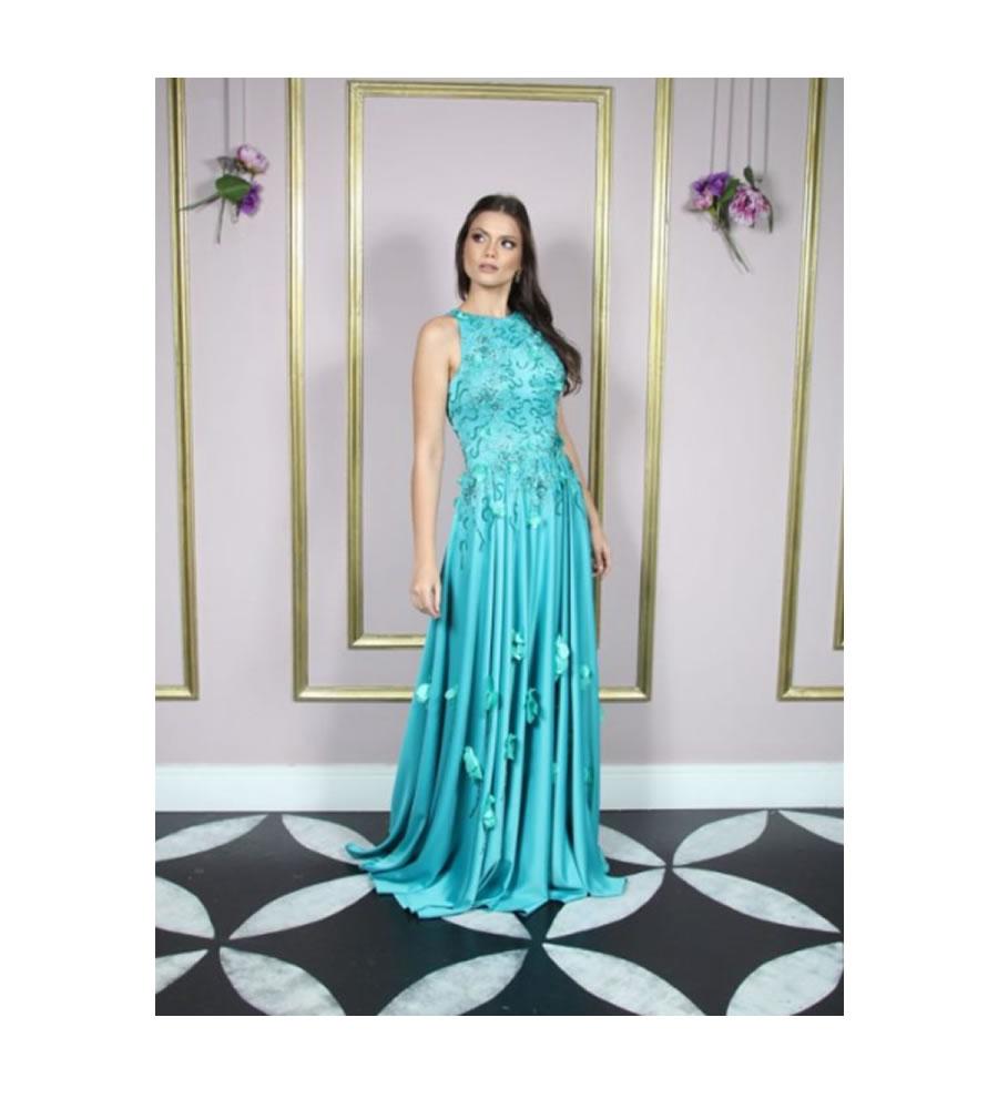 Vestido para mãe de noiva e noivo alta costura