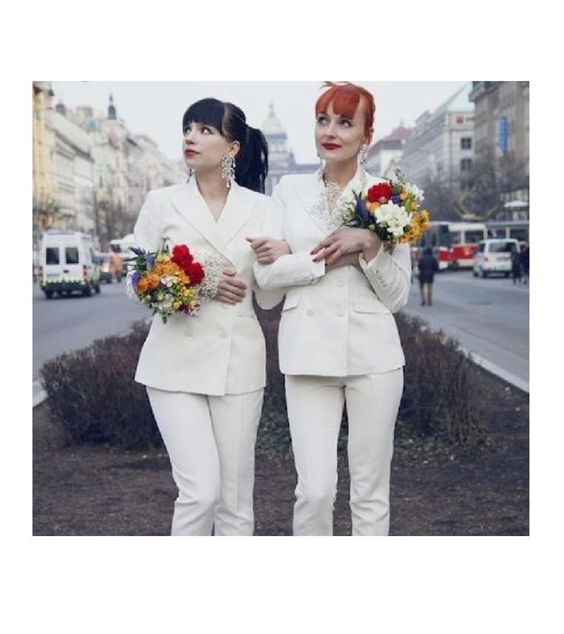 Look e vestido de noiva para casamento homoafetivo