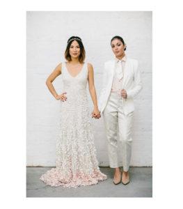 Look e vestido de noiva para homoafetivo no Tatuapé