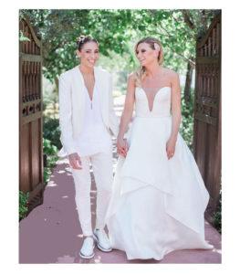Casamento homoafetivo vestido de noiva e look