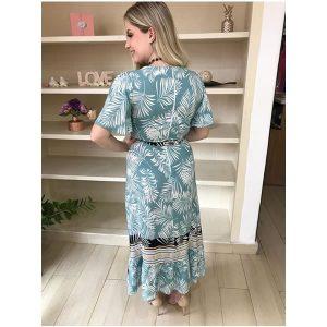 Vestido azul estampado floral